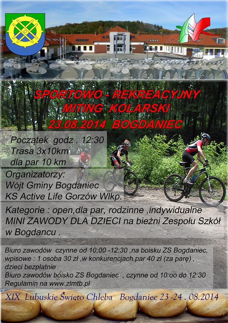 Sportowo – Rekreacyjny Miting Kolarski 23.08.2014 Bogdaniec