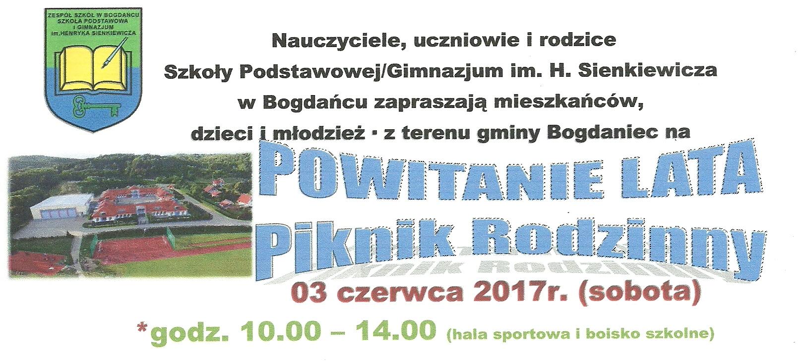 POWITANIE LATA - Piknik Rodzinny 3 czerwca 2017r.