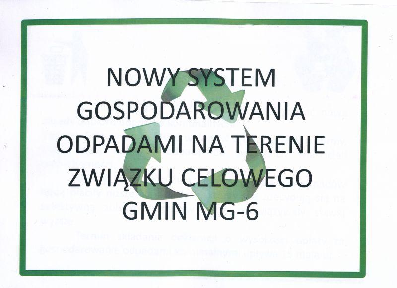 NOWY SYSTEM GOSPODAROWANIA ODPADAMI MG6